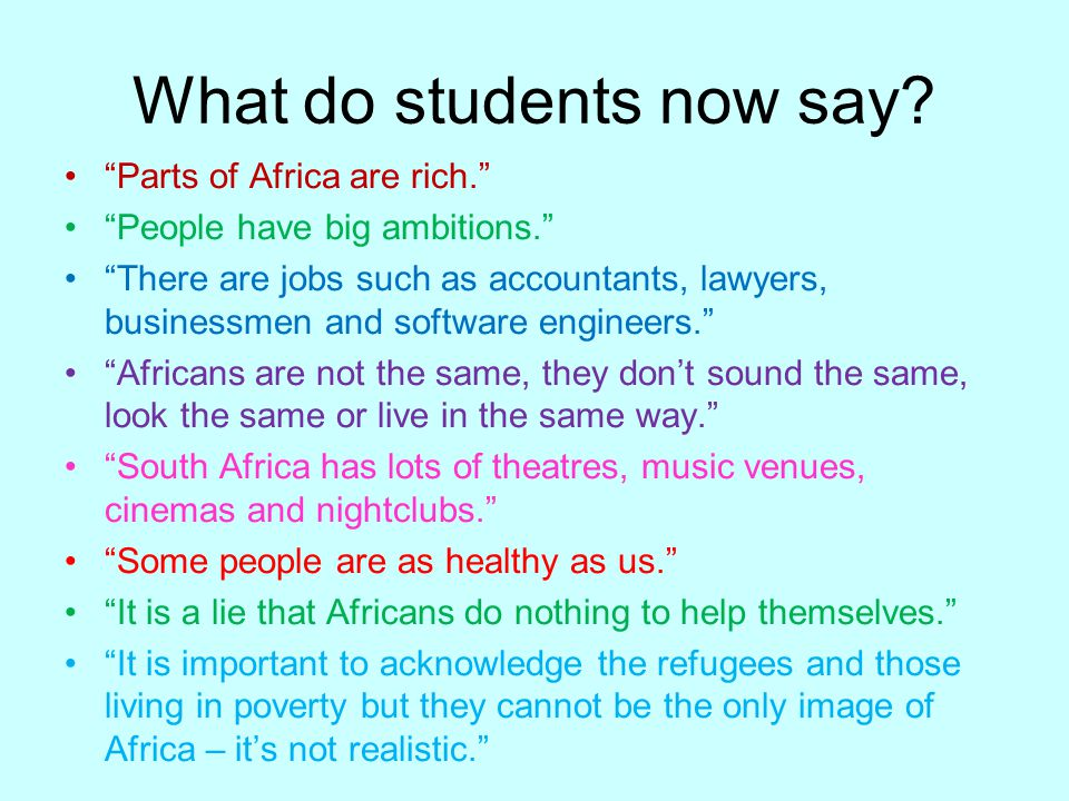 What do students now say.