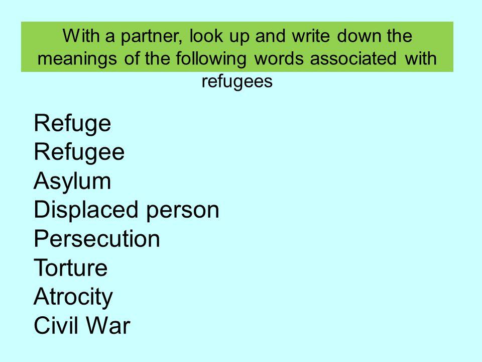 Could you put these legacies into 2, 3 or 4 different categories.