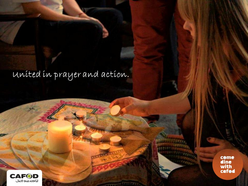 United in prayer and action.