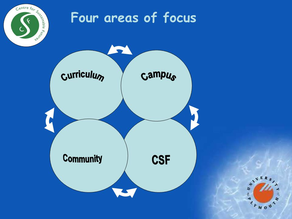 Four areas of focus