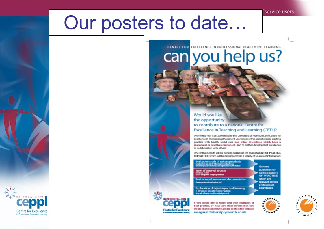 Our posters to date…