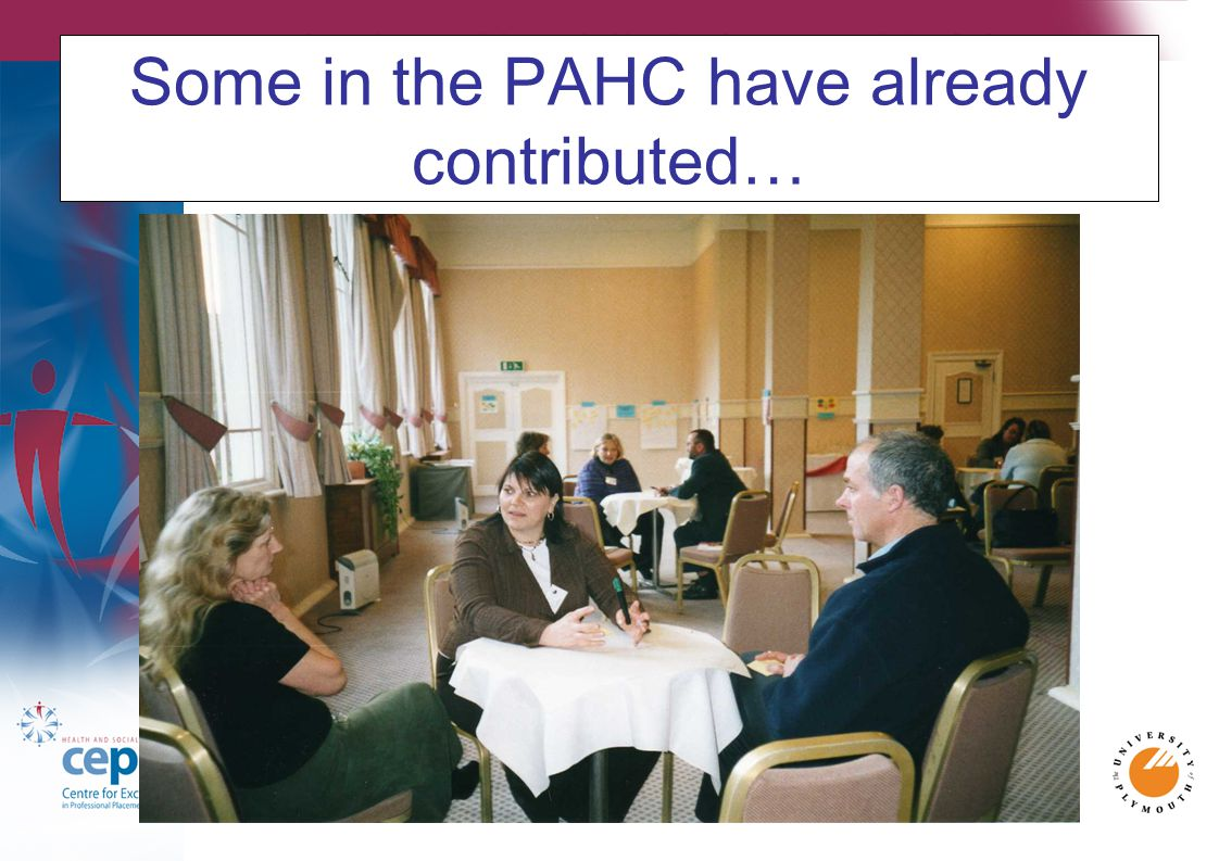 Some in the PAHC have already contributed…