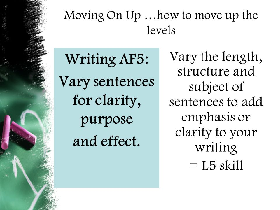 Writing AF 7 – select appropriate and effective vocabulary.