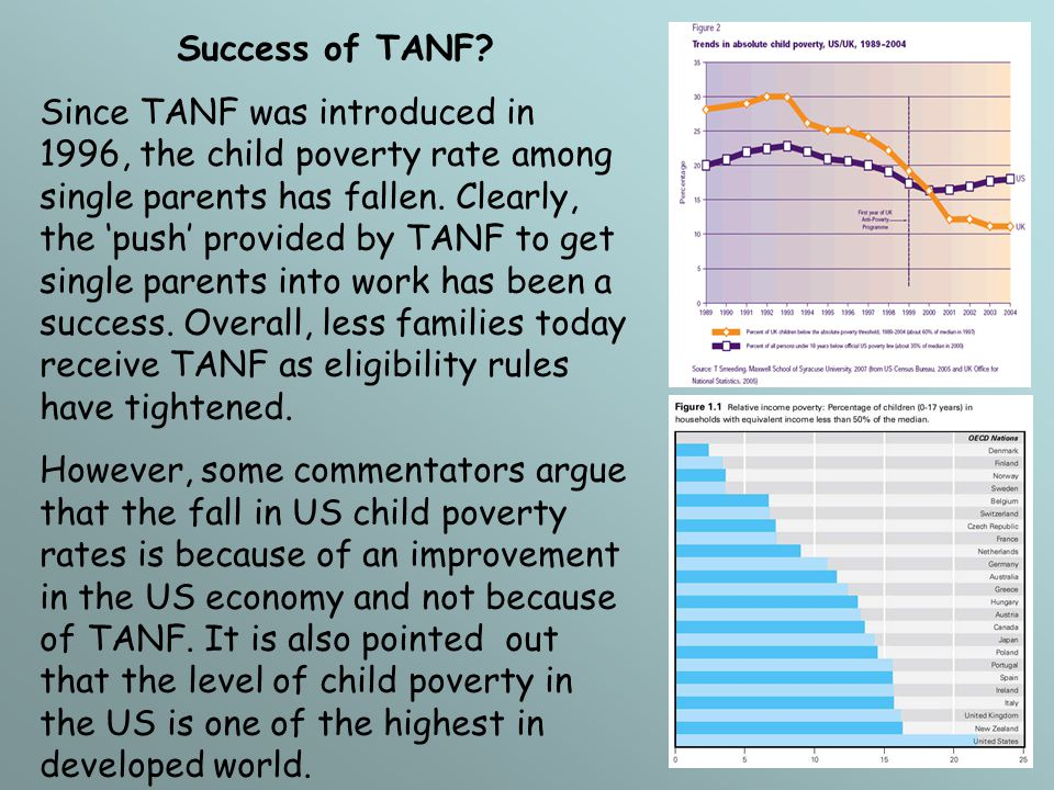 Success of TANF.