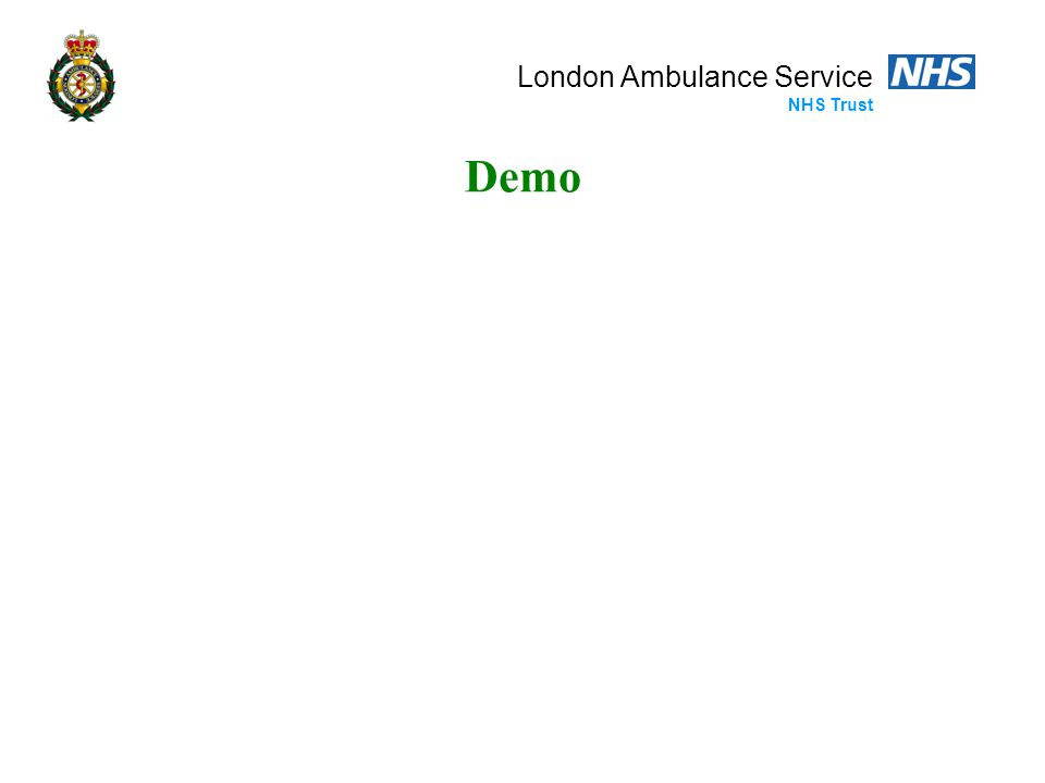 London Ambulance Service NHS Trust Demo