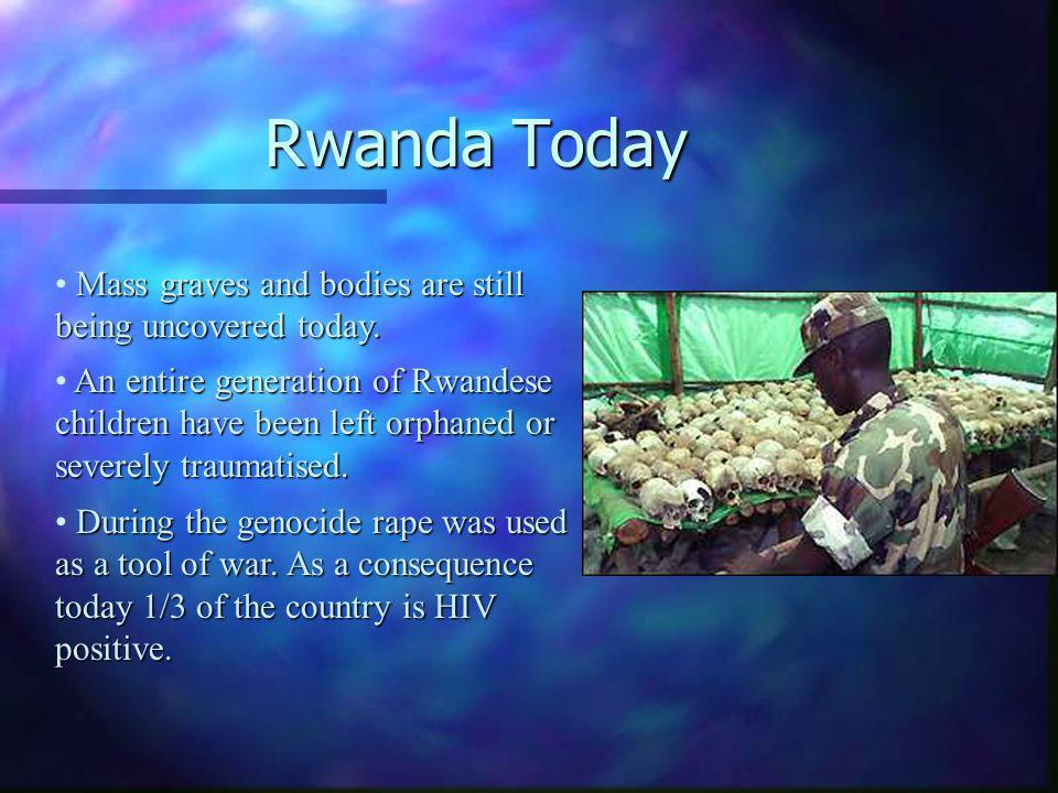 Rwanda Today An entire generation of Rwandese children have been left orphaned or severely traumatised.