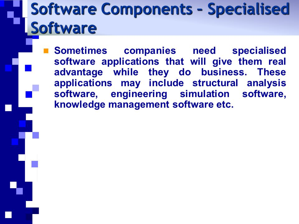 Sometimes companies need specialised software applications that will give them real advantage while they do business.