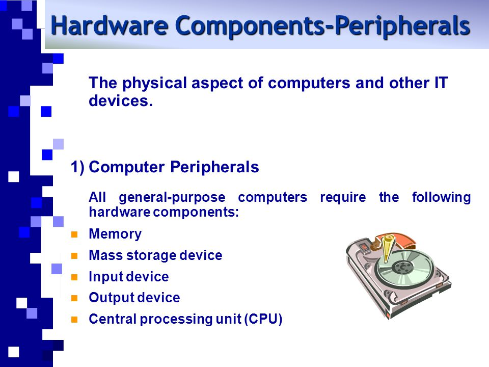 The physical aspect of computers and other IT devices.