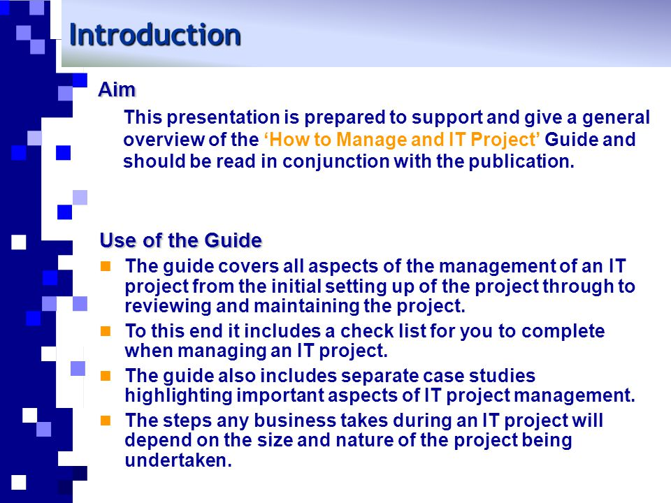 3.Carrying out the project 3.3 Procure equipment Procure of equipment may be a project on its own.