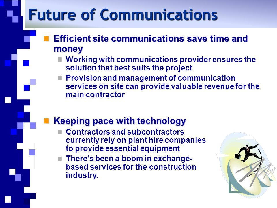 What factors do you need to consider when selecting communications link to site.