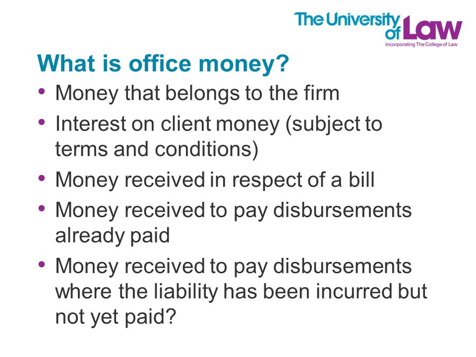 What is office money.