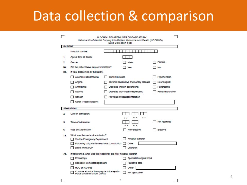 4 Data collection & comparison