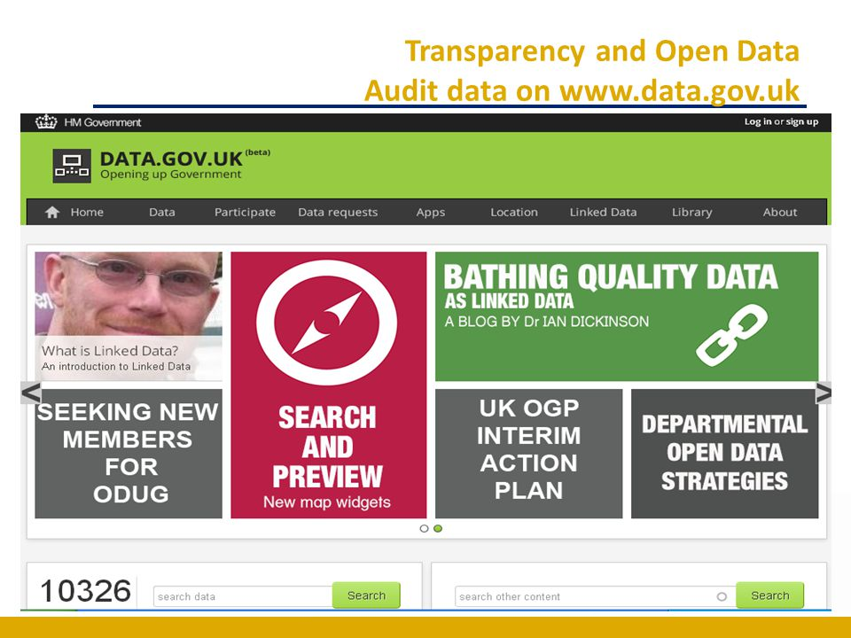 Transparency and Open Data Audit data on www.data.gov.uk
