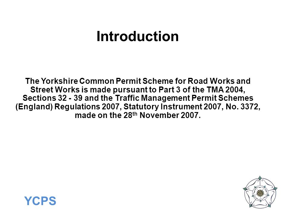 YCPS What Activities DON'T Need A Permit.Non registerable activities: Traffic Census surveys.