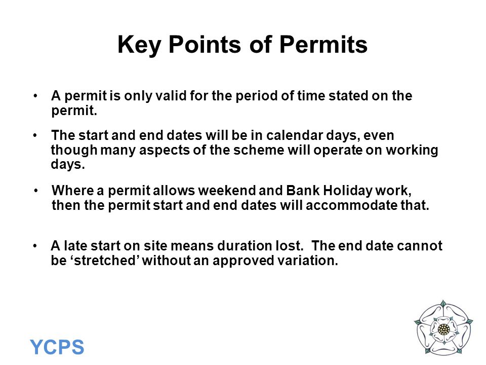 YCPS Information Requirements