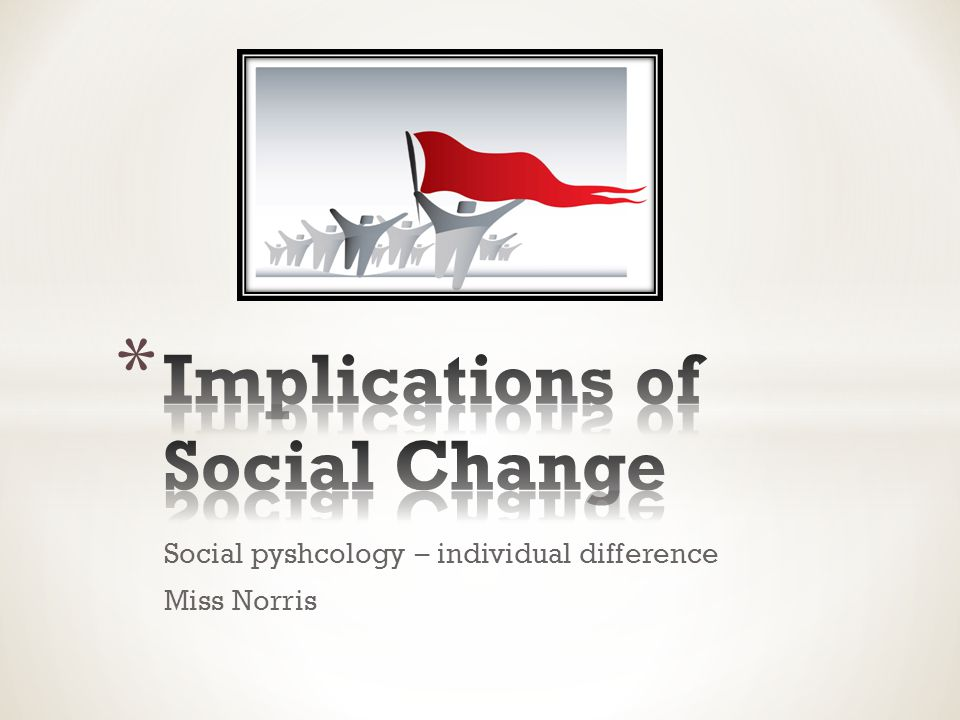 Social pyshcology – individual difference Miss Norris