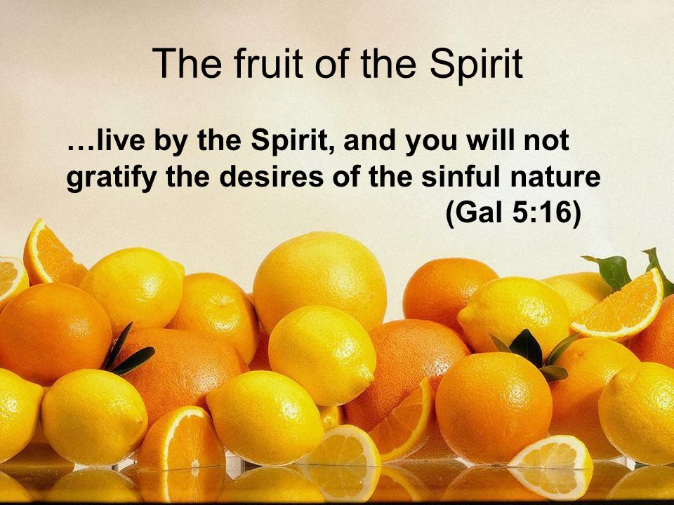 …live by the Spirit, and you will not gratify the desires of the sinful nature (Gal 5:16)
