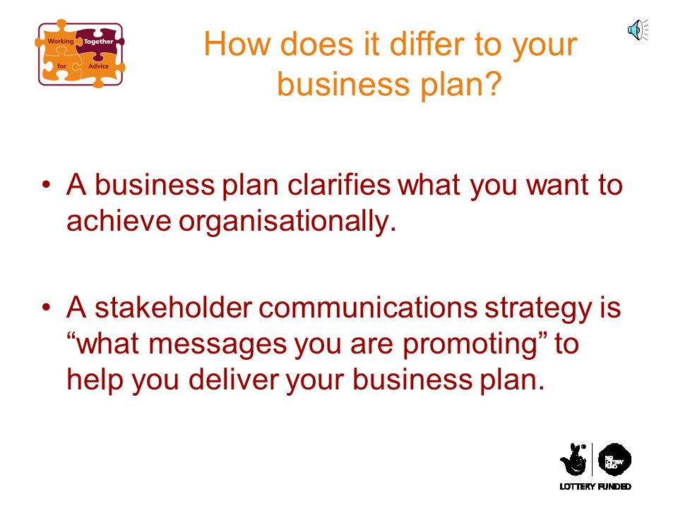 How does it differ to your business plan.
