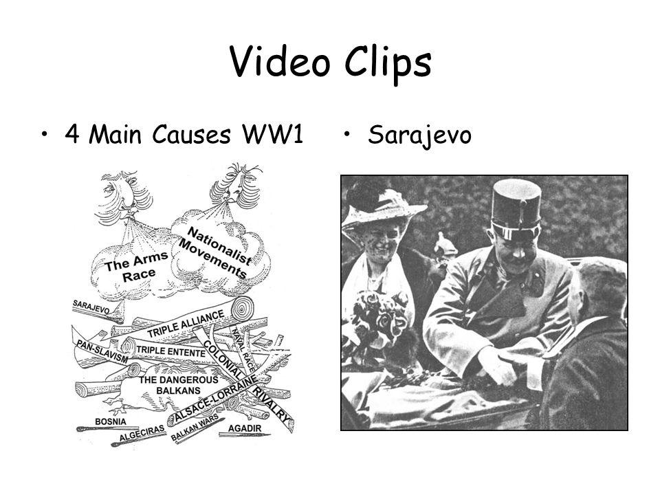 Video Clips 4 Main Causes WW1Sarajevo