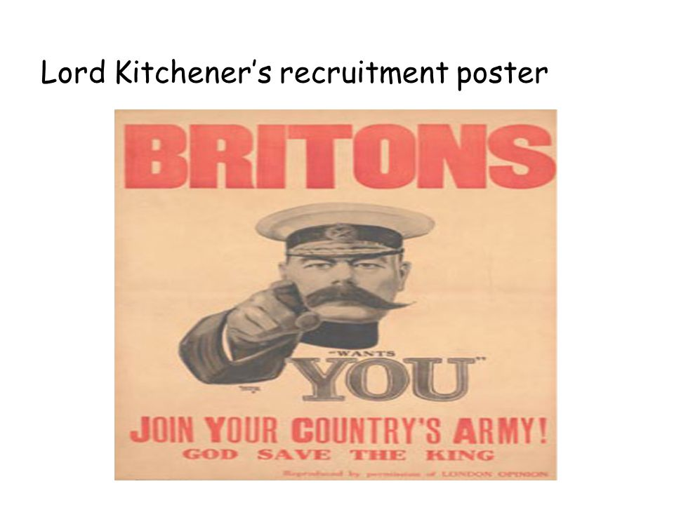 Lord Kitchener's recruitment poster
