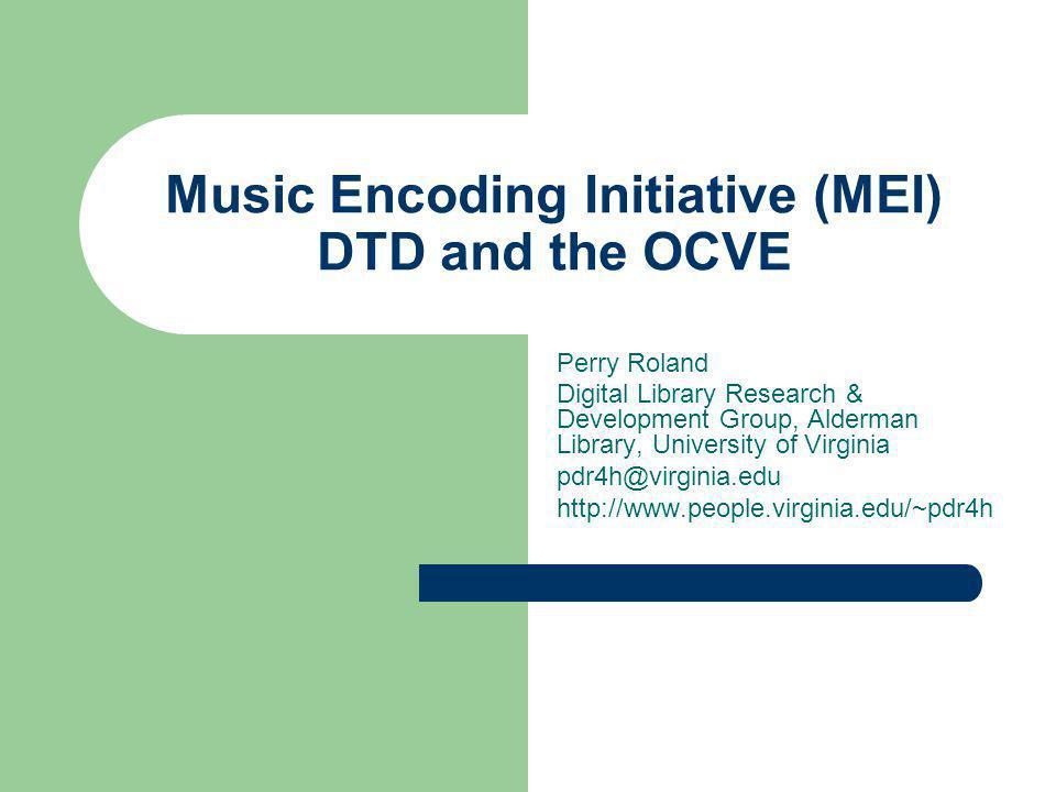 Purposes of the DTD encoding interchange