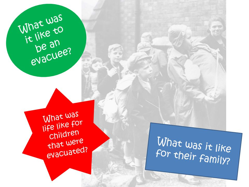 What was it like for their family.What was it like to be an evacuee.