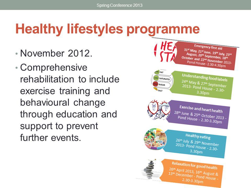 Healthy lifestyles programme November 2012.