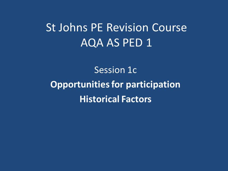 Factors Affecting Development of Rational Recreation/Sport in Society Rational Recreation Social Organisational Economic Class Jun04Q2
