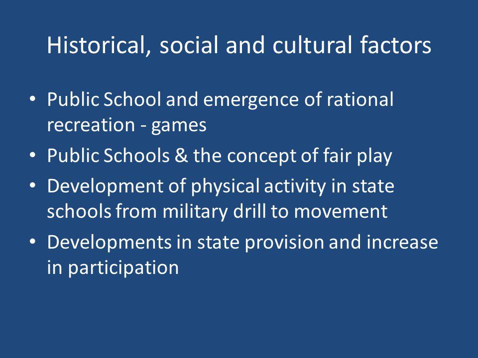 Rational Rec – Social Factors Social Church Class YMCA Sunday School Muscular Christianity Boys Clubs W.