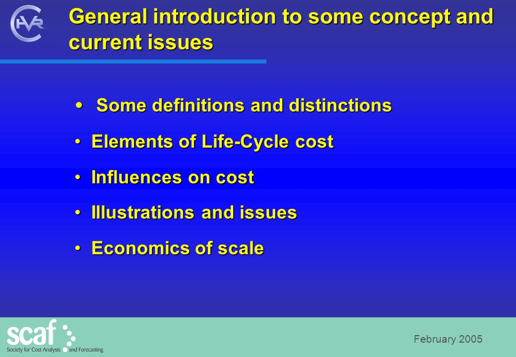February 2005 General introduction to some concept and current issues Some definitions and distinctions Some definitions and distinctions Elements of