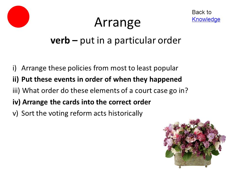 Rank verb - give (someone or something) a rank within a grading system 1)Rank the arguments in order of efficacy 2)Rank the pictures according to the level of bias 3)How would you order these images to fit the grading system.