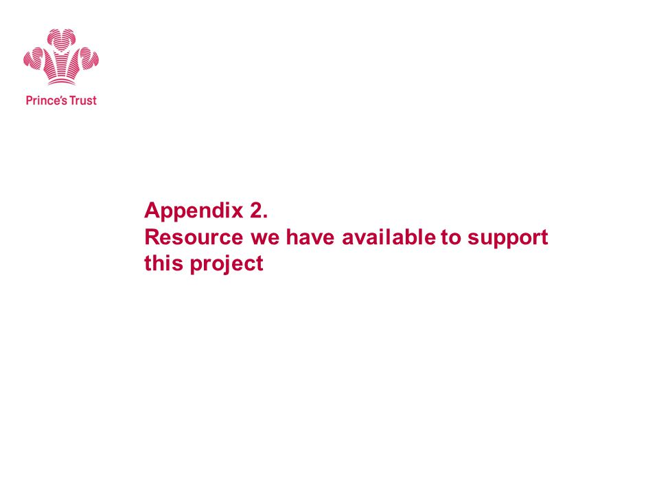 Appendix 2. Resource we have available to support this project