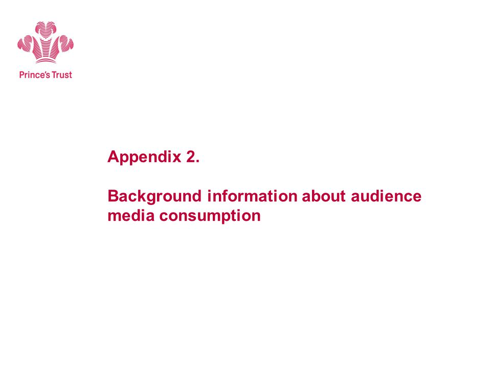 Appendix 2. Background information about audience media consumption