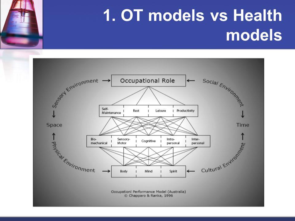 1. OT models vs Health models
