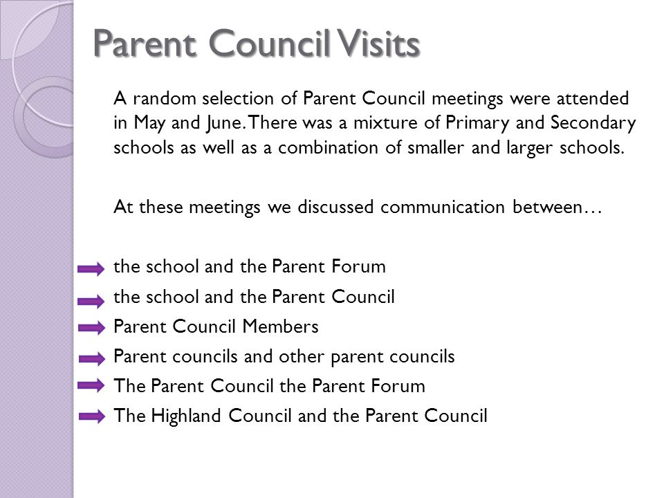 Parent Councils Parents and Carers were asked if they knew where to access that contact details of the Parent Council at their child's school: 62.7% answered yes 37.3% answered no Parents and Carers were asked if they knew where to access the minutes of the Parent Council meeting.