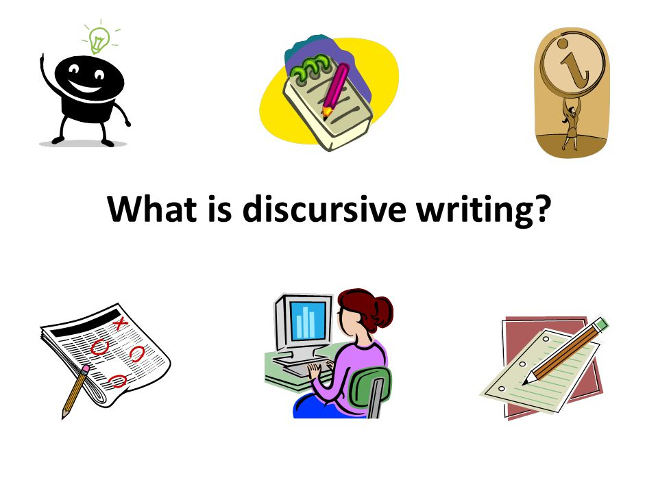 What is discursive writing