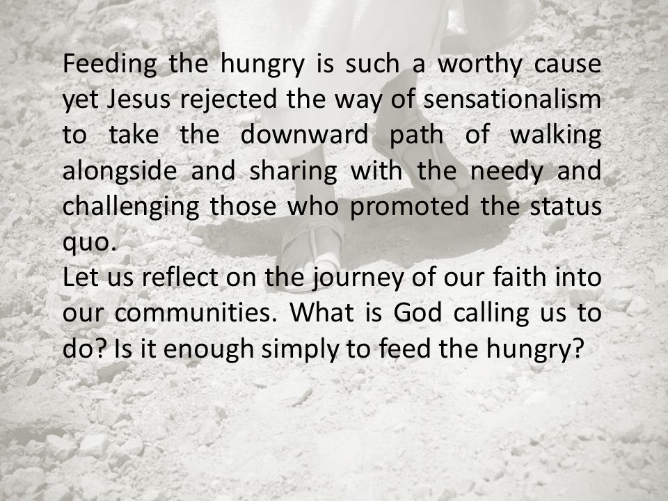 On our Lenten Journey to the Jerusalem of yesterday we reflect upon our own communities of today.