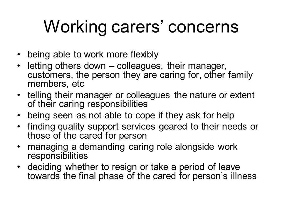 Next steps What can we do to help working carers?