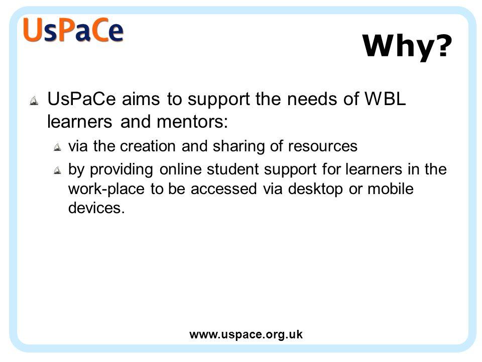 www.uspace.org.uk Why.
