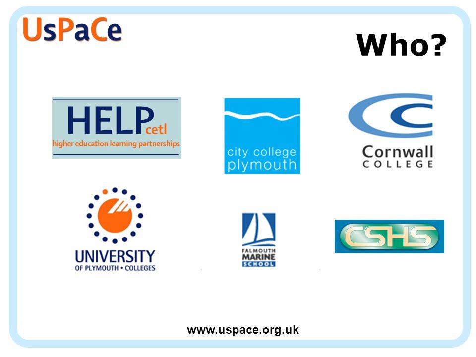 www.uspace.org.uk Who?
