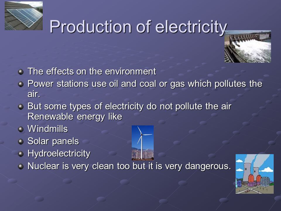 Where does electricity come from.