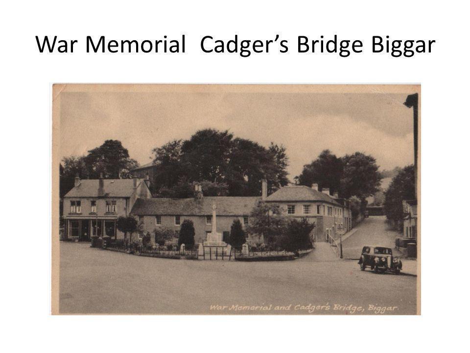 War Memorial Cadger's Bridge Biggar