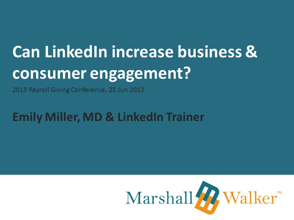 Can LinkedIn increase business & consumer engagement.