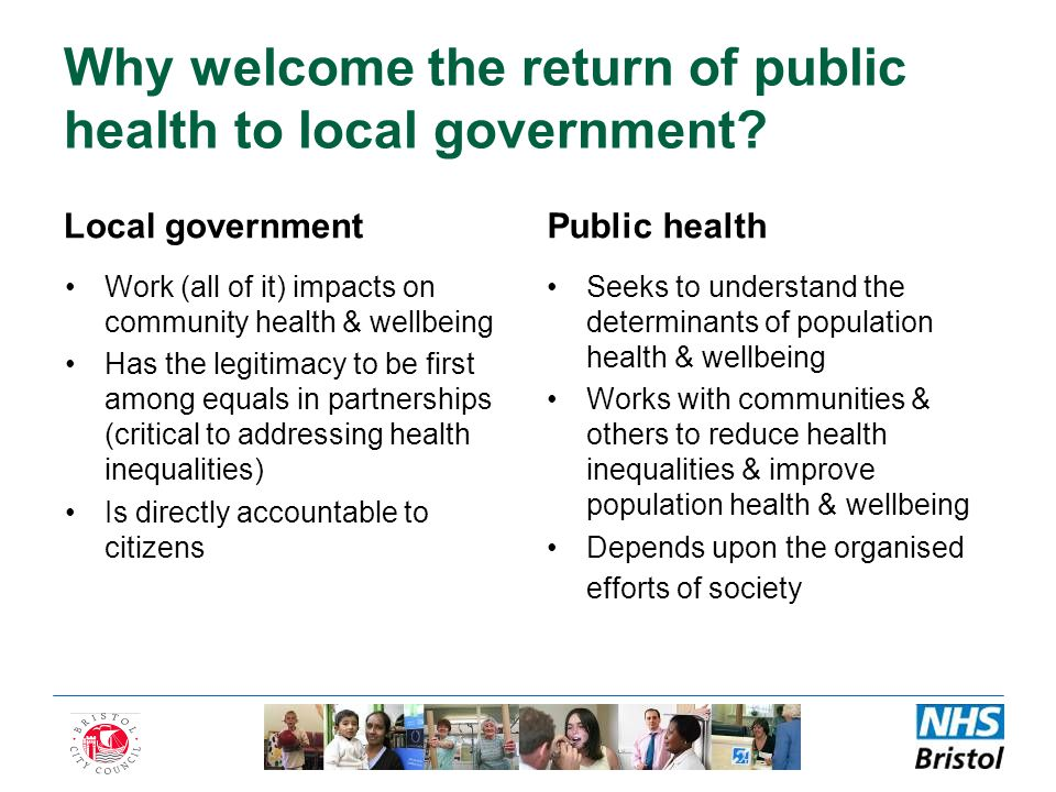 Why welcome the return of public health to local government.