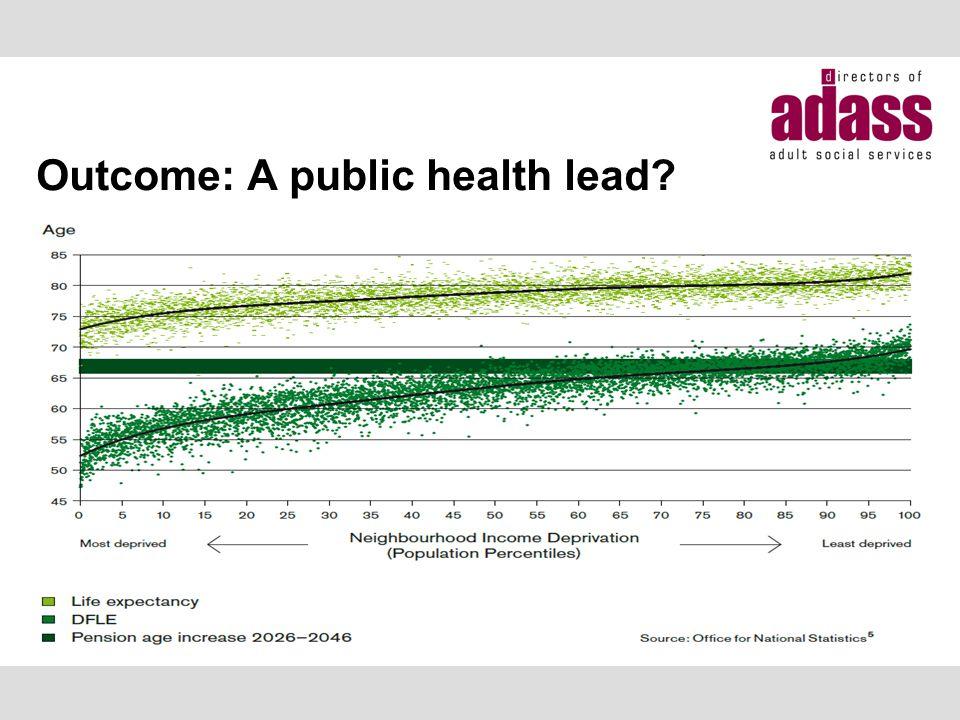 Outcome: A public health lead
