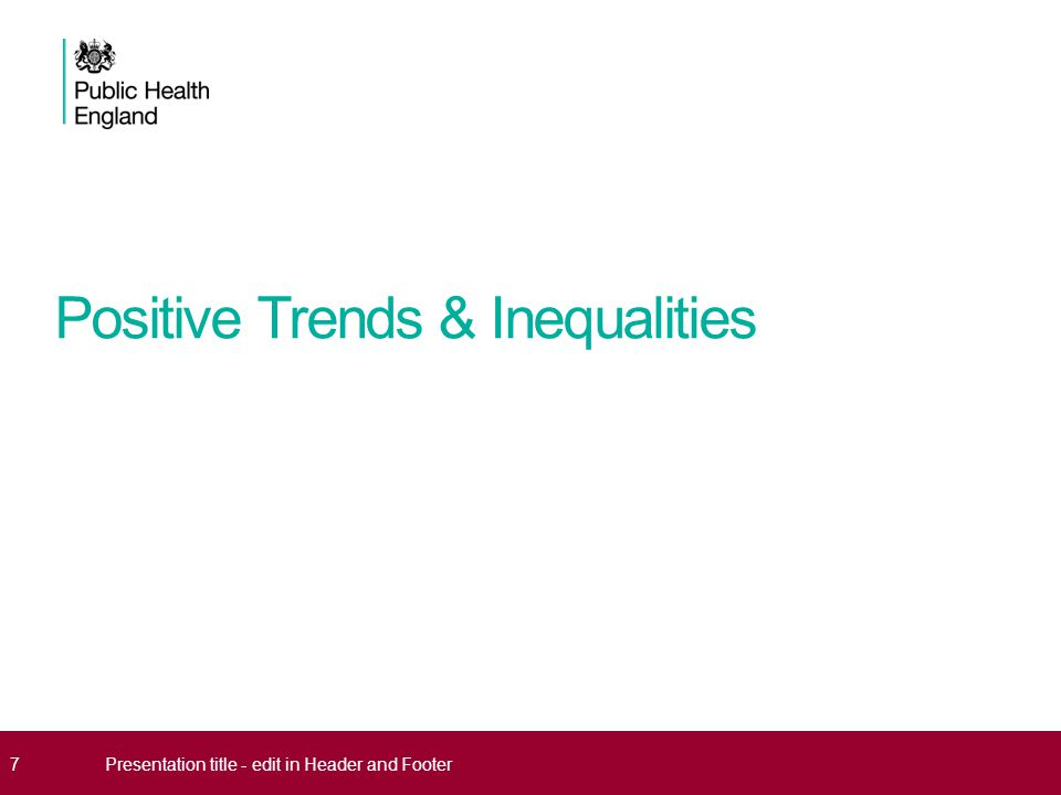 Positive Trends & Inequalities 7Presentation title - edit in Header and Footer