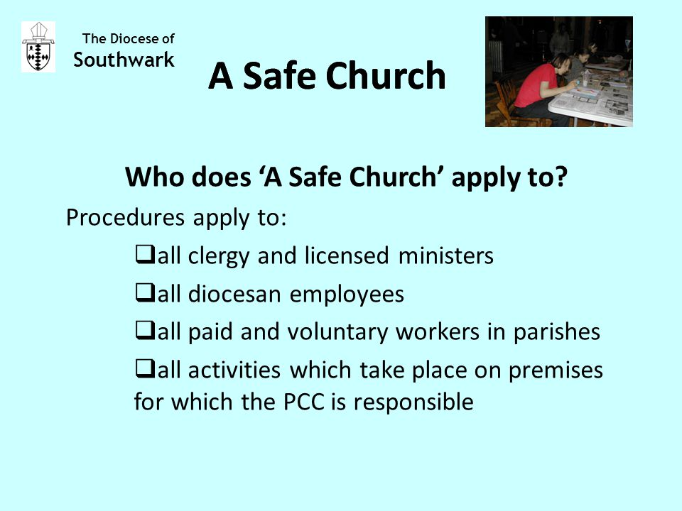 Who does 'A Safe Church' apply to.