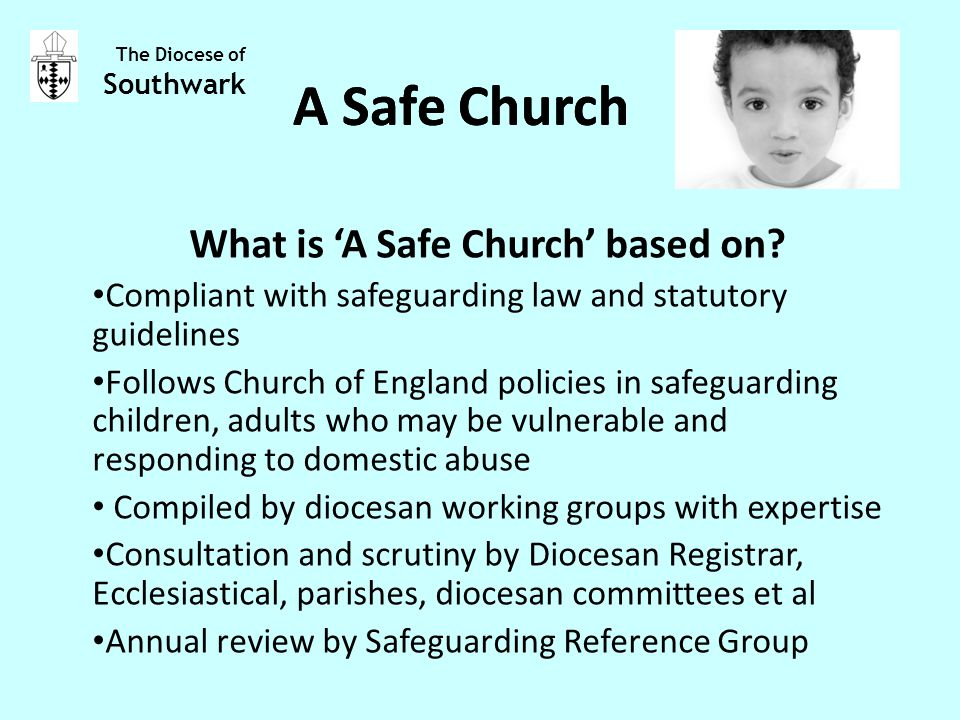 What is 'A Safe Church' based on.