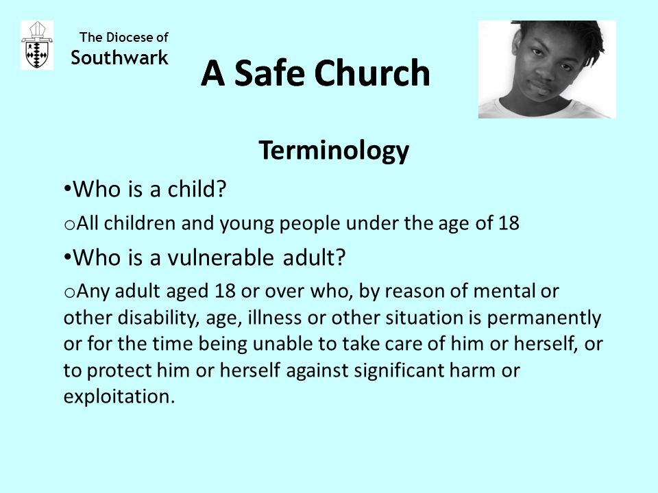 Terminology Who is a child.