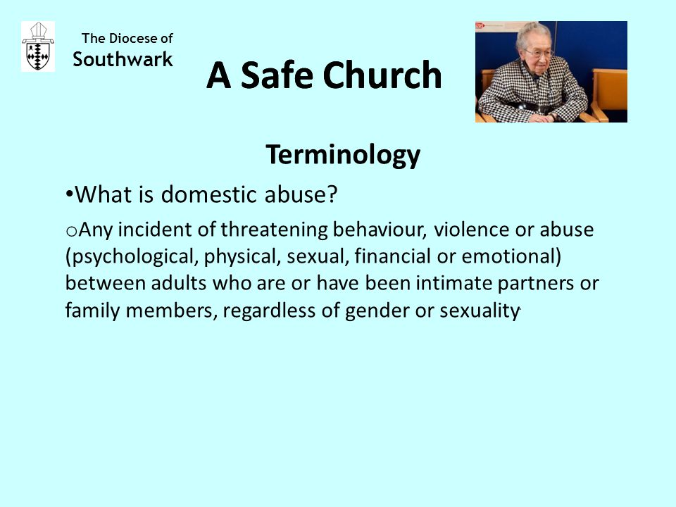 Terminology What is domestic abuse.